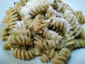 Pasta in crema di zucchini.