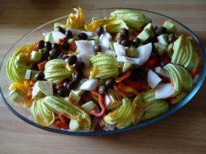 Teglia di verdure al forno.