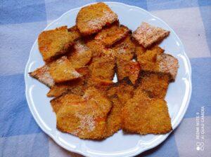 Zucca croccante al forno