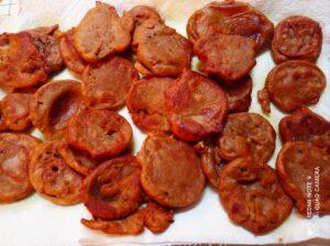 Frittelline di farina di castagne