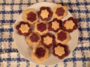 Biscotti fiore bicolore