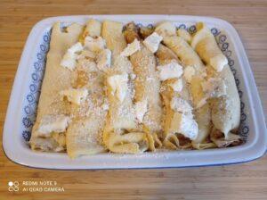 Crepes ai formaggi e prosciutto