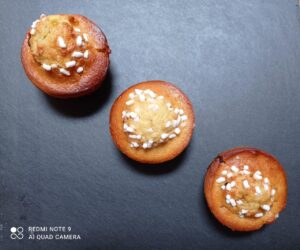 Muffin arancia , cioccolato e cannella